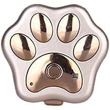 MagiDeal Rf-v30 GPS de Mascotas Impermeable Wifi Perseguidor de Perros de Gatos Collar de Localizador 3 Colores - Oro