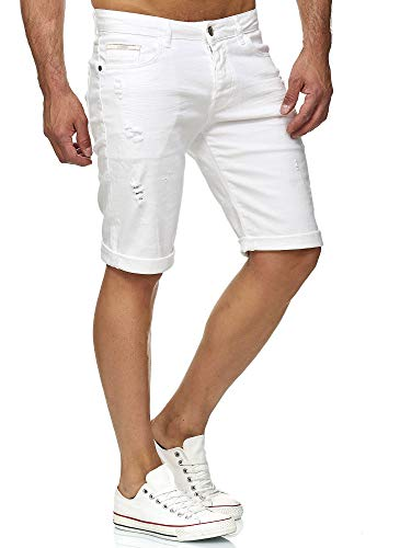 Redbridge short men's short denim basic fashion casual jeans shorts moda casual jeans estate bianco