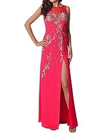 Toscana novia dibujos con ranura larga de la gasa de estrellas de tul vestidos de noche vestidos de fiesta de la…