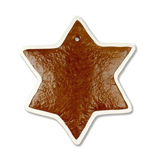 Stern aus Lebkuchen 20cm zum selbst gestalten (essbar) | Bastelideen für Weihnachten | Weihnachtsgeschenke selber machen | Weihnachtsbasteln mit Kindern & Erwachsenen von LEBKUCHEN WELT