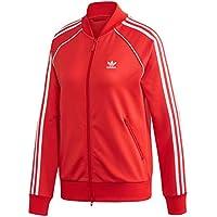 adidas Originals SST W Chaqueta con Cremallera, Mujer, Rojo (Lush Red/White), 42