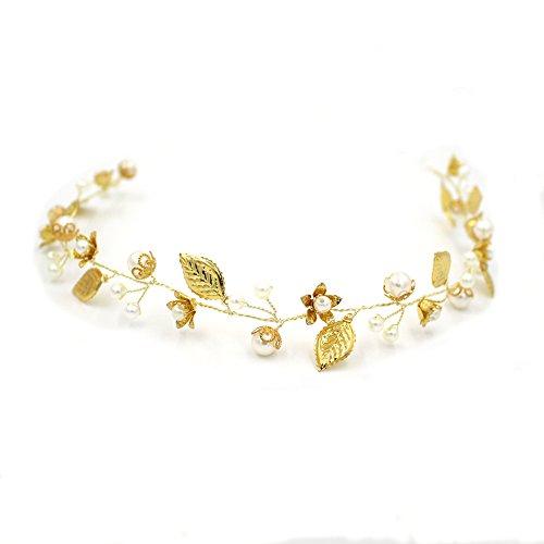 Elegante Göttin Perle Blume Haarband oumoutm Brautschmuck Hochzeit Kristall Kopfbedeckung Krone (Einfache Kostüm Ideen Für Die Arbeit)