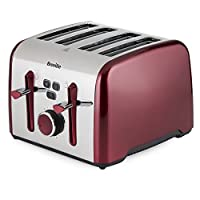 Breville VTT628 Colour Notes 4 Slice Toaster - Red