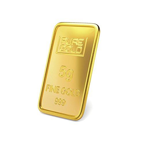 Joyalukkas Assayer Certified 5 gm, 24k (999) Yellow Gold Precious Bar