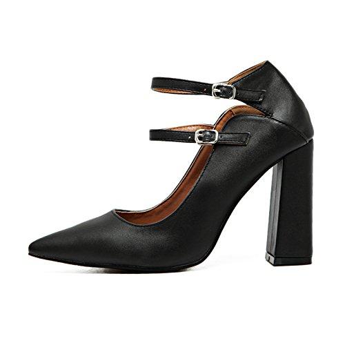 Souvent Avec Des Chaussures À Talons Hauts Pointe De La Boucle Double-lumière Buse Épaisse Avec Des Chaussures À Talons Hauts Chaussures Chaussures De Marée Rouge Unique De Mariage Chaussures Femmes Chaussures Noir