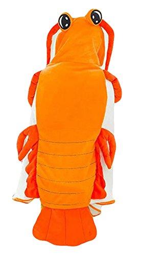 Kostüm Kinder Garnelen - Good Night Pipi Shrimp Cosplay Plüsch Umhang für Geburtstag Halloween Party