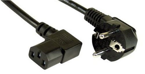 Kabel Kaltgeräte rechts abgewinkelt 2 m