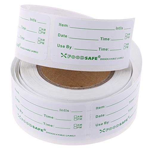 Selbstklebender Aufkleber Abnehmbare Aufkleber für Gefrierschrank-Lebensmitteletiketten Easy Clean Leaves Cooler Food Storage Freezer-Aufkleber
