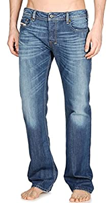 Diesel Zatiny Regular Fit Mens Jeans - Blue Wash - 008XR 34W/32L