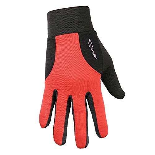 Frühling Snowboard Handschuhe (LOUMVE Fahrradhandschuhe Herren Frühling Sommer Outdoor Sports Touchscreen Anti Rutsch Atmungsaktiv Fahrrad Radfahren Handschuhe Rot L)