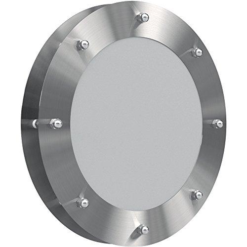 MLS Bullauge B3000 Edelstahl gebürstet für Wandstärke ab 18 mm (Durchmesser: 25cm)