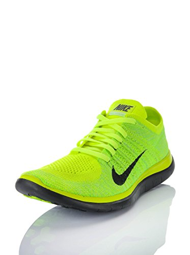 Nike Free 4.0 Flyknit, Chaussures de course homme Jaune