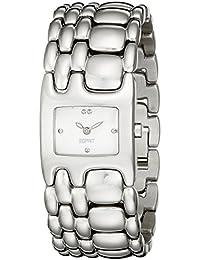 Esprit Damen-Armbanduhr Houston Delta Pure Silver Analog Quarz Edelstahl ES103902002
