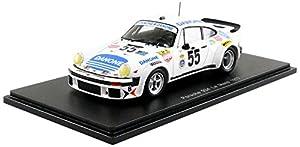 Spark-Miniatura de Coche Porsche 934Le Mans 1977(Escala 1/43, s5090, Color Blanco/Azul