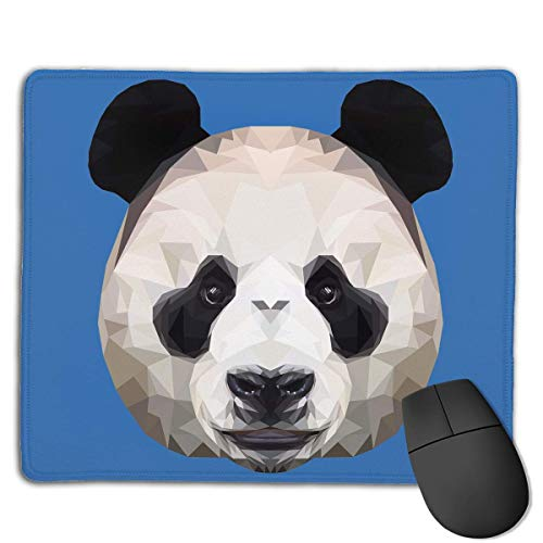 ASKSWF Mouse Pad Cute Panda Head Rectangle Rubber Mousepad 8.66 X 7.09 Inch Gaming Mouse Pad with Black Lock Edge