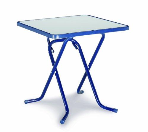 Best Table Ronde Pliante 100 cm 67 x 67 x 70 cm Bleu