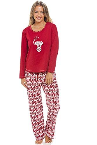 Camille - Conjunto de Pijama Largo para Mujer - Estampado de Elefantes...