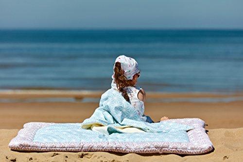 Diamante Decke (KraftKids Krabbeldecke weiße Diamante auf Cameo Rosa / weiße Diamante auf Pastel Blau)
