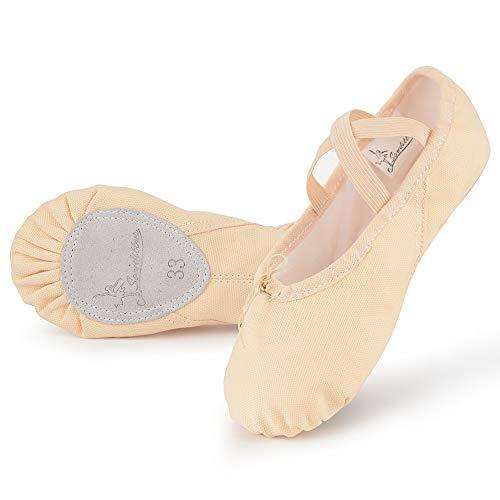 Soudittur Chaussure de Ballet Toile Classique Ballerine Demi...