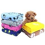 AK KYC 6 Stück Fleecedecke Haustierdecke Welpen Kuscheldecke Hund Katze Fleece Haustier Matte Pad Bett Weiche für Tiere Katzendecke Hundedecke (B)