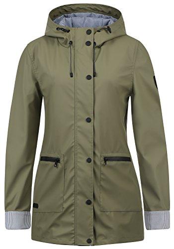 DESIRES Becky Damen Regenmantel Regenjacke Übergangsjacke Mit Kapuze, Größe:M, Farbe:Dusty Olive (3784)