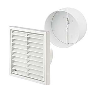 home smart grille de ventilation carr e persienne et. Black Bedroom Furniture Sets. Home Design Ideas