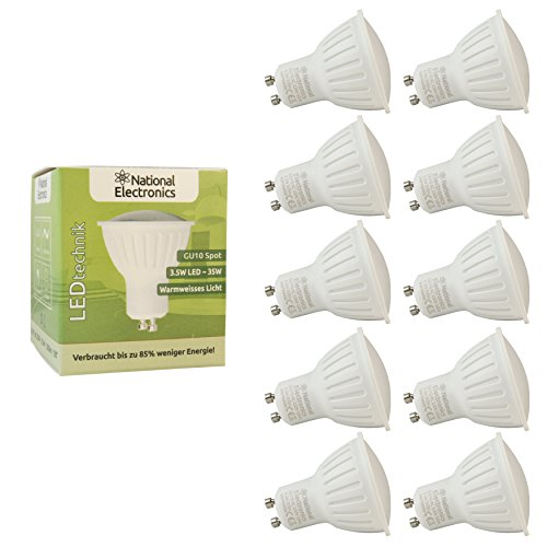10x-national-electronicsr-gu10-35w-320-lumen-led-leuchtmittel-ac-230v-120-lampe-spot-warmweiss