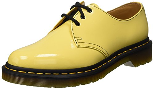 Dr. Martens 1461 Patent Acid Yellow, Scarpe Basse Stringate Unisex Adulto, Giallo (Acid Yellow), 38
