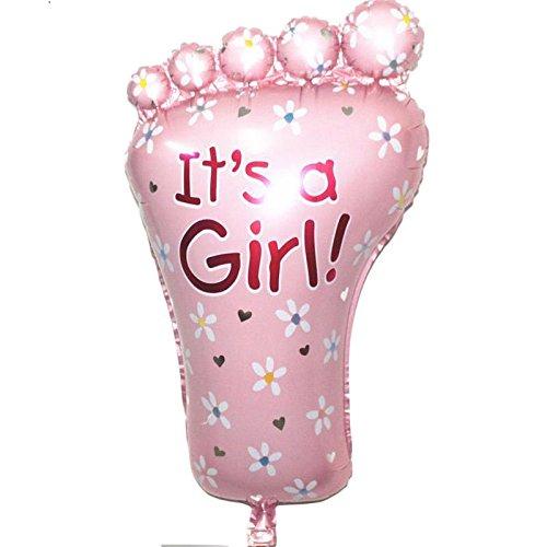 ium Ballon Baby Girl Fuß rosa Dusche Taufe Geburtstag Party (Rosa Baby-dusche)