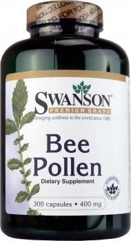 Swanson Pollen d'Abeille (100% Naturel) 400mg, 300 gélules - Ménopause, Performances Physiques, Allergies Saisonnières (Bee Pollen capsules)