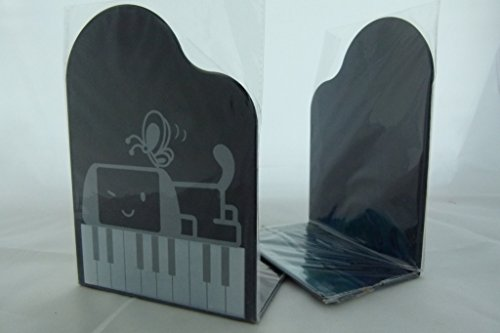 - grand piano Form mit Cartoonwelpe & Schmetterling Buch Ständer Paar ()