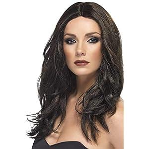Smiffys Superstar Wig - Dark Brown