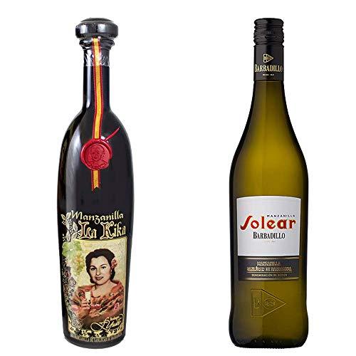 Manzanilla La Kika Y Manzanilla Solear - D. O. Manzanilla De Sanlúcar De Barrameda - 2 Botellas De 750 Ml