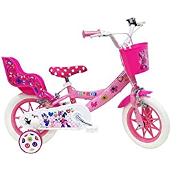 Bici Minie - Bicicleta Infantil para niña, Multicolor, 12 Pulgadas