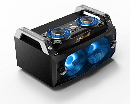 WJG Industrievertretung Lautsprecher tragbar Musik LED´s Sound Box System Bluetooth USB SD MP3 Aufnahme SPLBOX120
