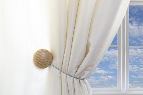 Magnaclips Vorhang-Raffhalter, Leno Birke -