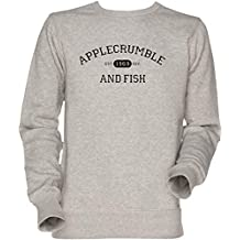 Vendax Applecrumble and Fish Unisexo Hombre Mujer Sudadera Jersey Gris Mens Womens Jumper Sweatshirt Grey