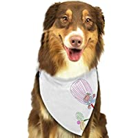 OUYouDeFangA Floral Crayons Style Dogs Birthday Bandana Scarf,washable Puppy Cat Neckerchief,triangle Bibs Accessory For Small Pet - Great Gift Idea