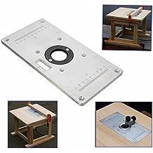 235mm x 120mm x 8mm de aluminio mesa de fresadora con plato para insertar para