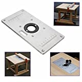 EsportsMJJ 235 mm x 120 mm x 8 mm Aluminium Router Tabelle Einfügen Platte für Holz-Bänke