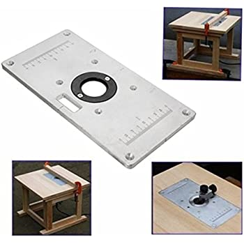 Router table insert plate for cmt7e and triton tra001 amazon esportsmjj 235mm x 120mm x 8mm aluminum router table insert plate for woodworking benches keyboard keysfo Image collections