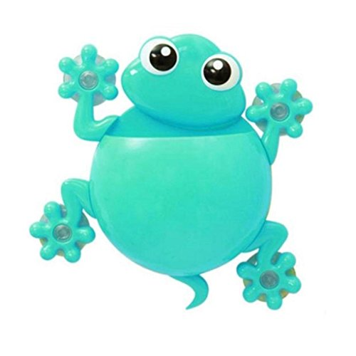 Cartoon Gecko Zahnpasta Halter Wand Sucker Haken Zahnbürsten-Halter (Blau)