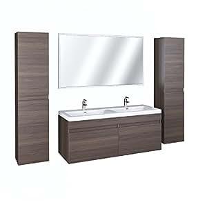 badezimmerm bel badm bel waschtisch 5 teilig spiegel doppelwaschbecken k che haushalt. Black Bedroom Furniture Sets. Home Design Ideas