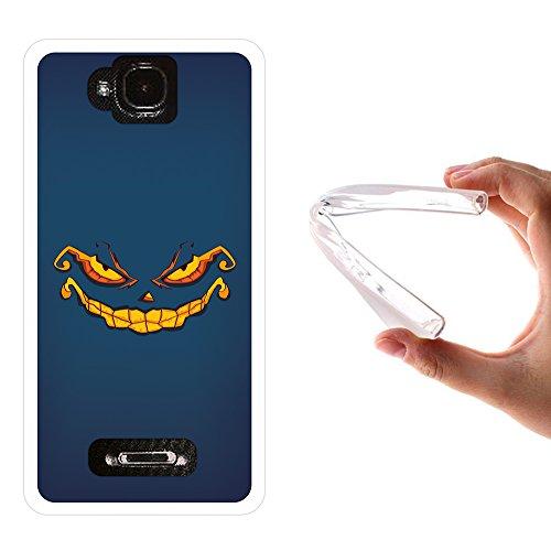 WoowCase MEO Smart A35 Hülle, Handyhülle Silikon für [ MEO Smart A35 ] Halloween Monster Handytasche Handy Cover Case Schutzhülle Flexible TPU - Transparent