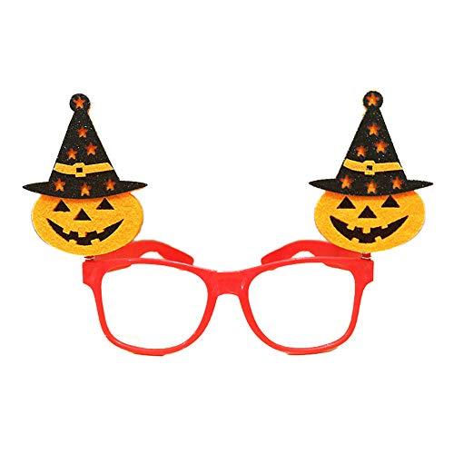 (1 piezas de fiesta de disfraces de Halloween Gafas de rendimiento con vasos de forma de calabaza (rojo))