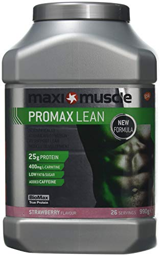 Maximuscle Promax Lean Protein Powder Formulated to Build Lean Muscle, Strawberry, 990 g