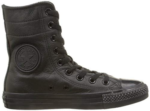 Converse All Star Hi Rise Leather Herren Hightop Sneaker schwarz (Black Monochrome)