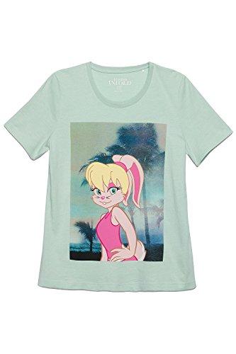 Studio Untold Damen große Größen T-Shirt   Hase, Cartoon, Fotodruck    Rundhals