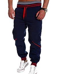 Juleya Hombre Hip Hop Harem Joggers Pantalones sólidos Pantalones Casuales 07cad9977be