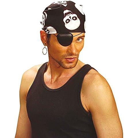 Foulard dei pirati bandana copricapo da pirata corsaro bucaniere capo di stoffa - 55 x 55 cm